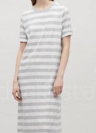 Красивое летнее платье-футболка cos