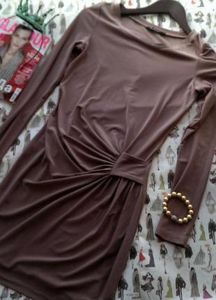 Платье кремового цвета kira plastinina платье выше колен с длинным рукавом облегающее с драпировкой