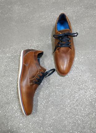 Pier one классические кожаные туфли в коньячном цвете