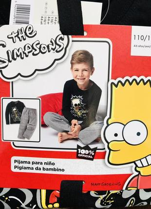 Хлопковая пижама the simpsons на рост 110-116 см