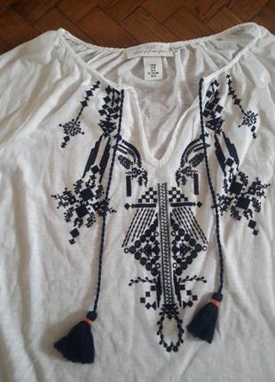 Блуза вышиванка от h&m3 фото