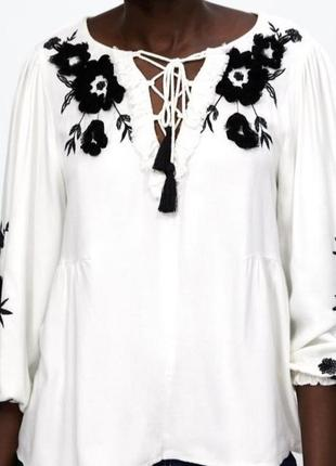 Блуза вишиванка zara hm mango