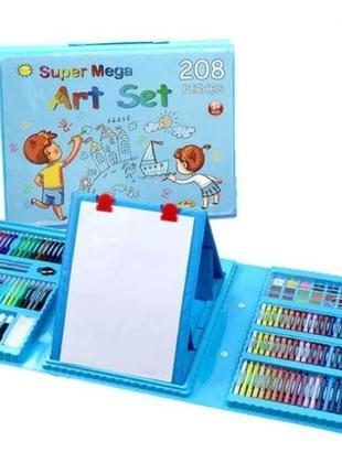 Набор для рисования в удобном кейсе с мольбертом в 208 предметов1 фото