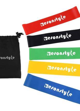 Фитнес-резинки esonstyle 5 в 1  + мешочек для хранения