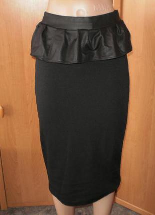 Шикарная брендовая юбка-карадаш от river island р. 10