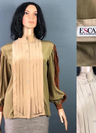 Escada оригинал шелковая блуза рубашка dior chanel zara massimo