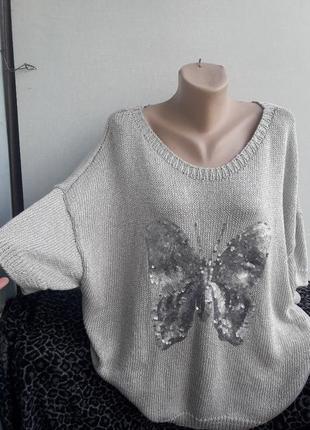 Вязаный джемпер блуза 60 размер