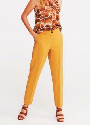 Качественные женские классические прямые брюки со стрелками с высокой посадкой