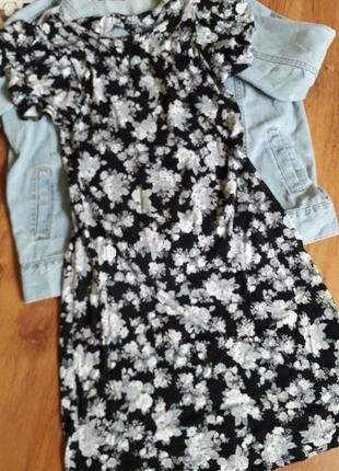 Платья с цветочным принтом 96%вискоза