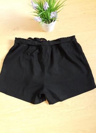 Классные шорты большого размера.черные шорты со льна и вискозы primark.