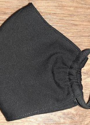 Маска защитная чёрная трёхслойная для лица