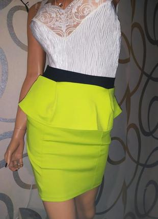 Обалденная яркая юбка с баской от boohoo