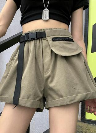 Летние, легкие, женские шорты.  с карманом на поясе