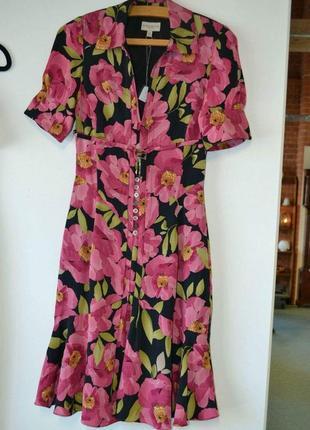 Натуральное шелковое платье karen millen , идеальное состояние , как новое
