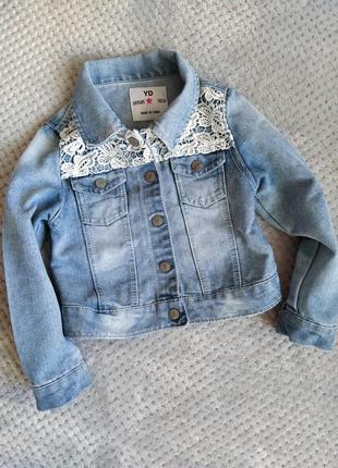 Джинсовая куртка девочке 5-6 лет рост