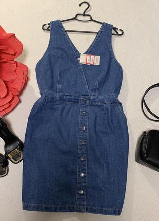 Стильное джинсовое платье,размер xxl