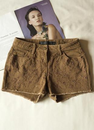 Короткие коричневые шорты женские next, размер s
