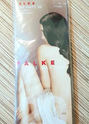 Гольфы falke knee-high pure matt 20 den transparent