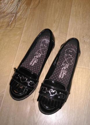 Туфли лоферы чёрного цвета george размер 37