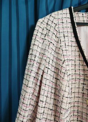 Damen schneiderei  в стиле шанель пиджак, жакет, кардиган, пальто в клетку твид