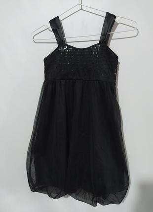 Платье фатин пайетки 8-9 лет