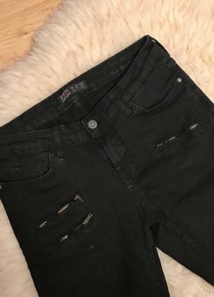 Чорні штани zara/черные штаны zara/джинсы