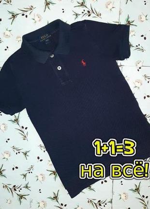 🌿1+1=3 фирменная футболка поло ralph lauren оригинал на мальчика 4 - 5 лет