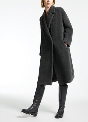 Шерстяное пальто альпака s max mara rose. макс мара.