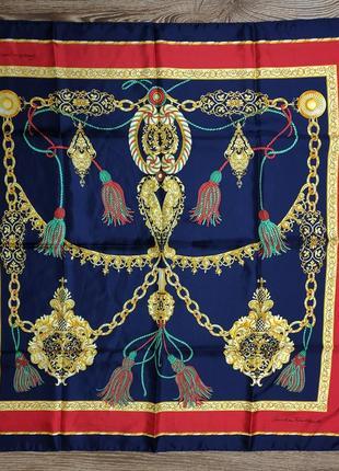 Винтажный шелковый платок christian fischbacher