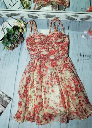 Люксова сукня rare opulence, в квіти. нова.