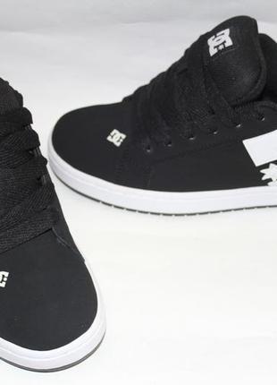 Кожаные dc shoes р. 43,5 кроссовки кеды court graffik