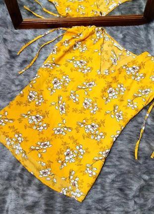 Sale топ блуза кофточка с цветочным принтом papaya