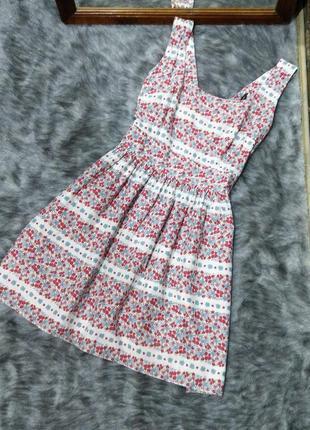 Sale хлопковое платье в цветочек dorothy perkins