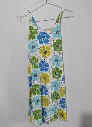 Платье сарафан с цветами подростковое 13-14 лет