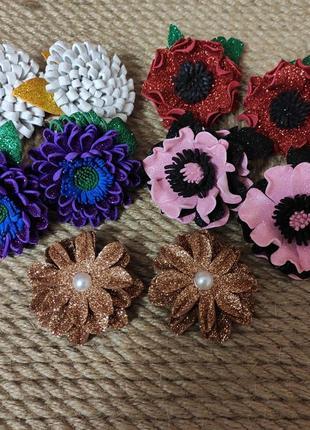 Красивые нарядные заколочки, рещиночки, украшения для волос на праздник