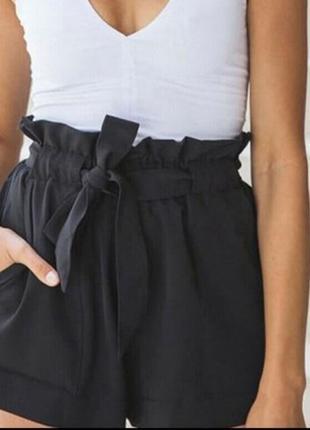 Черные шорты большого размера. шорты primark со льна и вискозы.