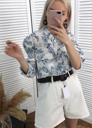 Сорочка з візерунком із чистого льону!