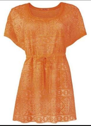 Пляжная оранжевая туника esmara