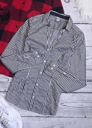 Атласная рубашка в полоску