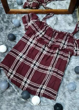 Sale cвободная блуза кофточка с оборкой рюшей из натуральной вискозы new look.