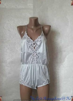 Новый нарядный нежный стильный кружевной боди серебристого цвета, размер 3хл