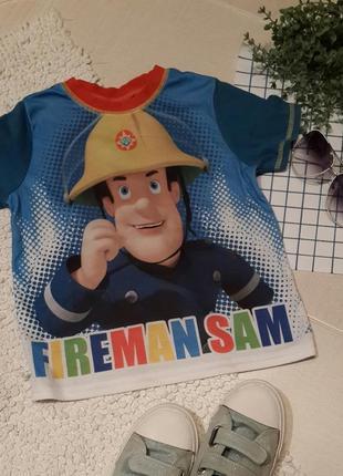 "Футболка ""пожежник сем"", на 3-4 роки.🎁 1+1=3"
