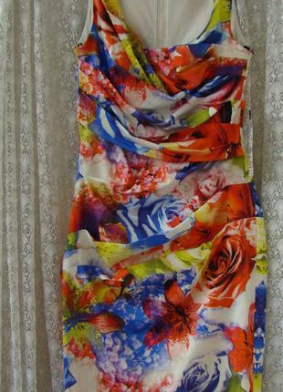 Платье летнее нарядное миди vera mont р.42 №7419