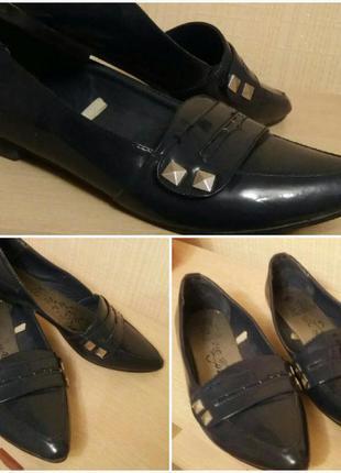 Синие лоферы.туфли.балетки.нюанс.