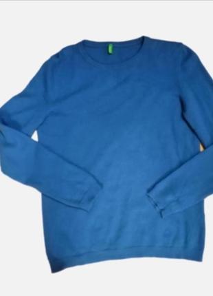Голубой мягенький свитер реглан шерсть