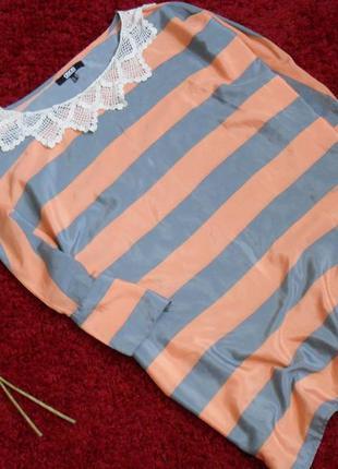 Персиковая блузка asos свободный покрой-m-l