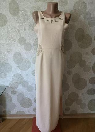 Вечернее длинное платье с кружевом   oh mylone