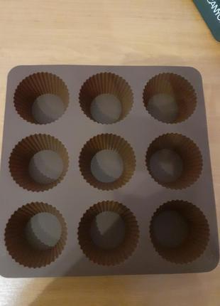 Форма силиконовая (классика) для выпечки панкейков, кексов, маффинов.