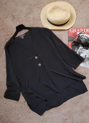 Актуальная блузка на пуговицах с разрезами по бокам/блуза/кофточка/рубашка
