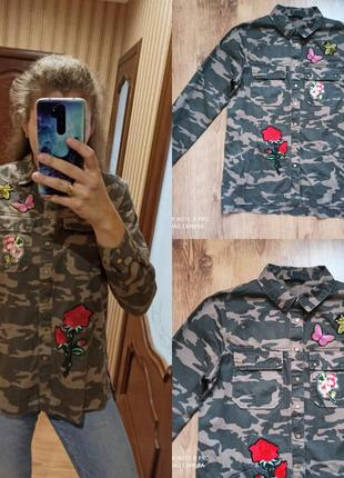 Камуфляжная рубашка